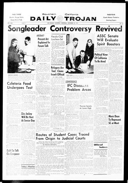 Daily Trojan, Vol. 49, No. 42, November 20, 1957
