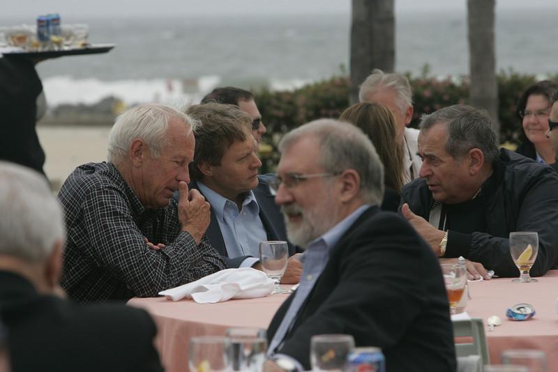 Lunch on the Windsor Lawn: Richard T. Carson (front; then L-R), Bill Budinger, Scott Wiedeman, and Hugh Bradlow