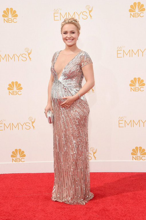 . Actress Hayden Panettiere attends the 66th Annual Primetime Emmy Awards held at Nokia Theatre L.A. Live on August 25, 2014 in Los Angeles, California.  (Photo by Jason Merritt/Getty Images)
