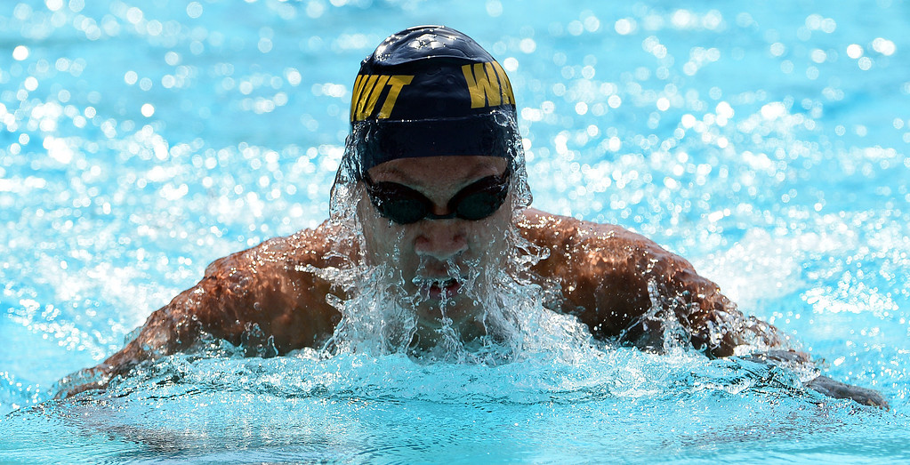 . Walnut\'s Derek Kao competes in the 200 yard IM during the Division 2 CIF Southern Section Swimming Championships in the Riverside Aquatics Complex at Riverside City College in Riverside, Calif., on Saturday, May 17, 2014.  (Keith Birmingham/Pasadena Star-News)