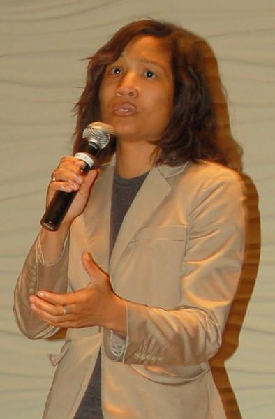 Yvonne Gilmore-Essig, spoken word artist at the Community Cafe
