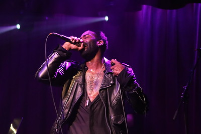 R&B singer Aaron Camper live at the Ardmore Music Hall in Philadelphia, Pennsylvania