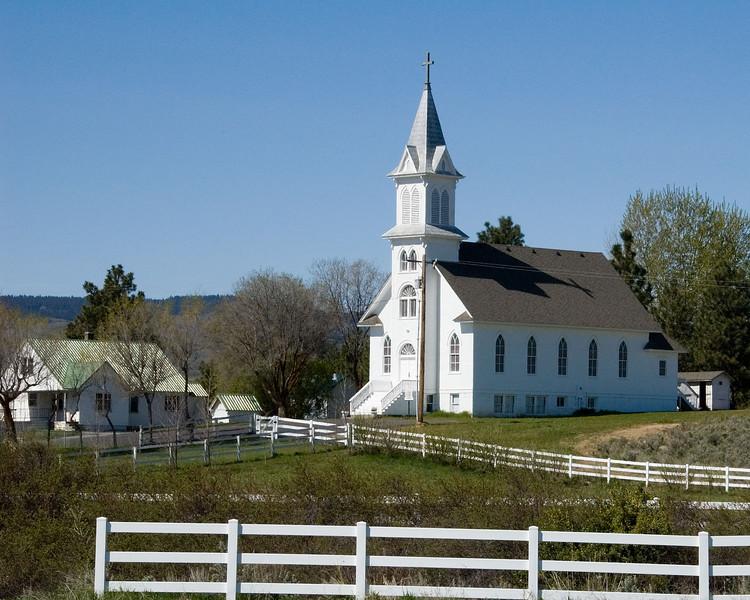 Same Douglas church on road into town.