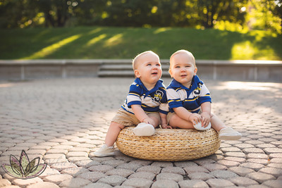 Clayton and Colton - 9 Months