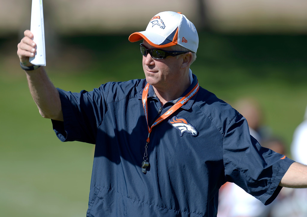 . ENGLEWOOD, CO - OCTOBER 09: Denver Broncos head coach John Fox before practice October 09, 2013 at Dove Valley. (Photo by John Leyba/The Denver Post)