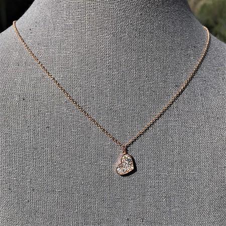 .65ctw Rose Gold Askew Heart Mosaic Pendant