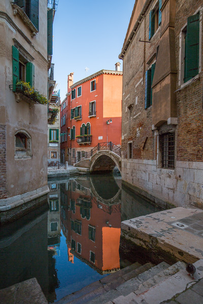 Another of the 409 bridges over the 177 canals in Venice.