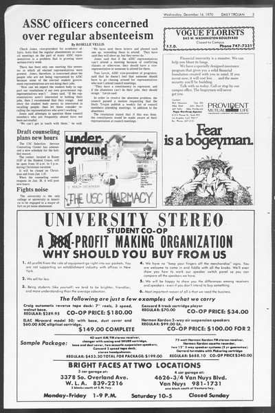 Daily Trojan, Vol. 62, No. 55, December 16, 1970