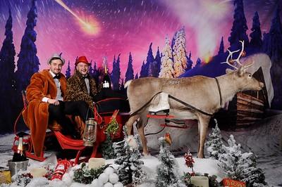 CHRISTMAS REINDEER NORTHERN LIGHTS