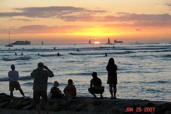 Waikiki 2007 -- Jan. 25, 26, 27, 28, Feb. 5 & 6,  2007