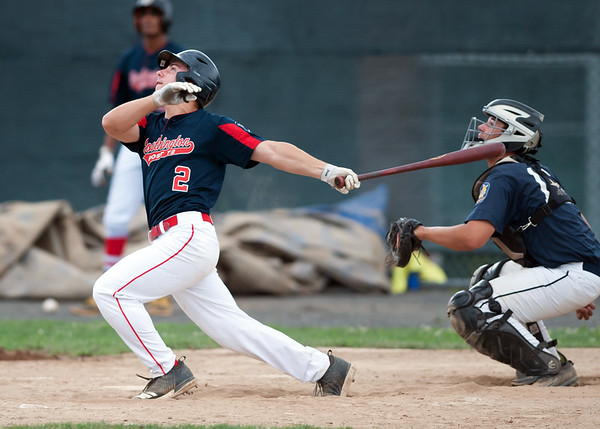 07/25/18 Wesley Bunnell   Staff Southington Post 72 vs Trumbull in American Legion Baseball on Wednesday afternoon. Brandon Kohl (2).