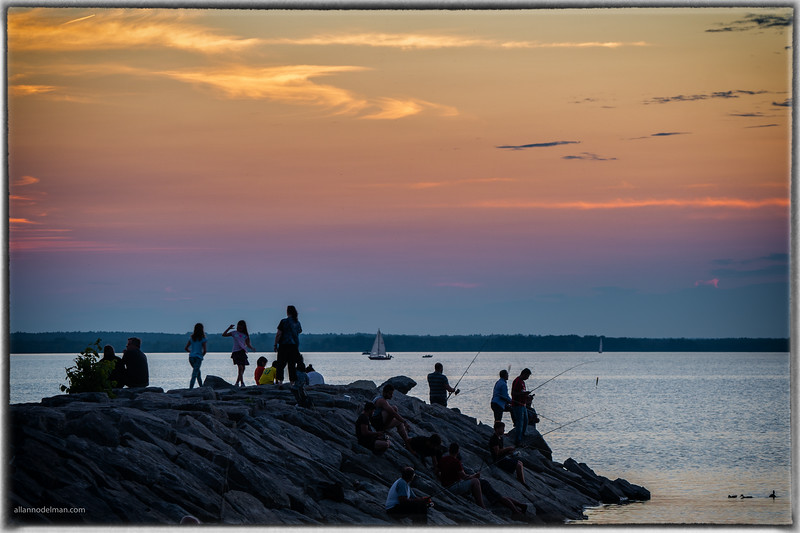 Britannia Beach at Sunset