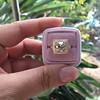 4.03ct Light Fancy Brown Antique Cushion Cut Diamond Halo Ring GIA LFB, SI1 30