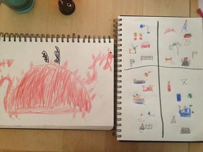 Rowan and Elijah daily drawings