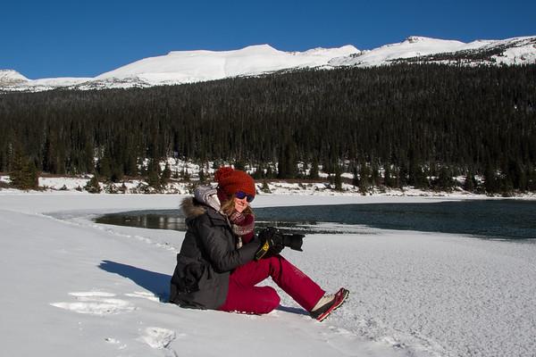 Kristin shooting in winter