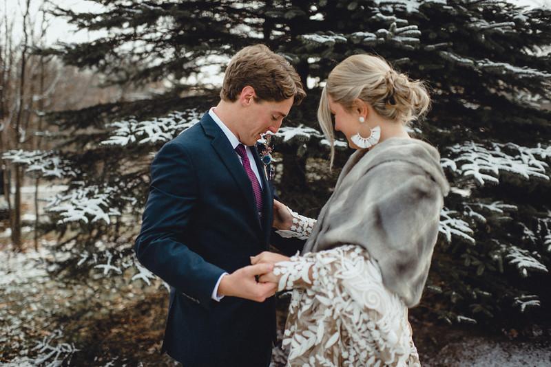 Requiem Images - Luxury Boho Winter Mountain Intimate Wedding - Seven Springs - Laurel Highlands - Blake Holly -546.jpg