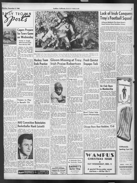 Daily Trojan, Vol. 32, No. 58, December 09, 1940