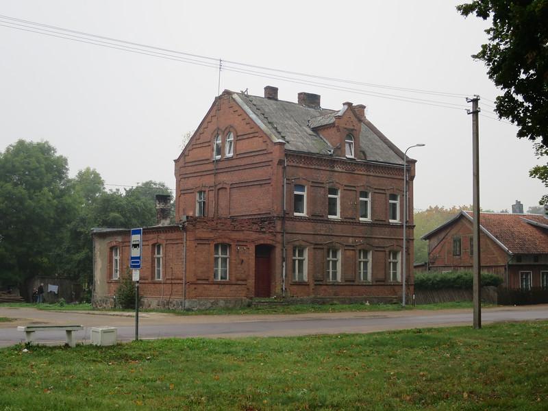 Bahnhof in Wischwill an der Kleinbahnstrecke Pogegen - Schmalleningken