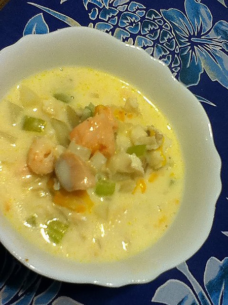 Day 25: made seafood chowder for dinner. Five days left of the challenge!