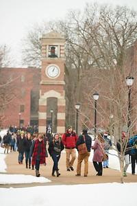 2016 UWL Students Buildings Winter Outside