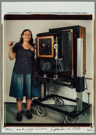 Elsa Dorfman with 20x24 Polaroid camera