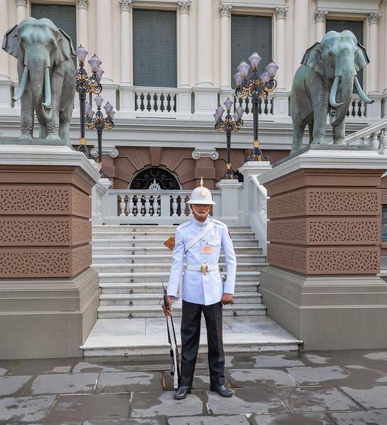 Palace Guard at the Royal Palace. Bangkok.