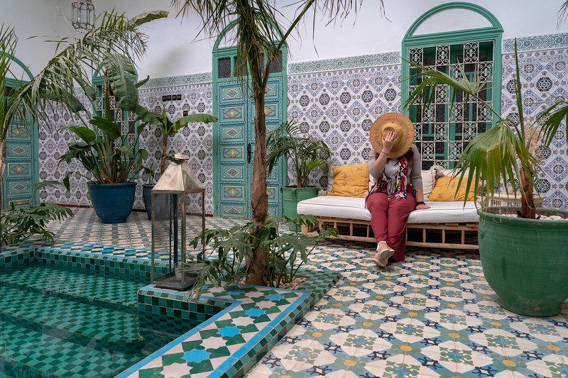 Amanda at Riad BE in Marrakech, Morocco