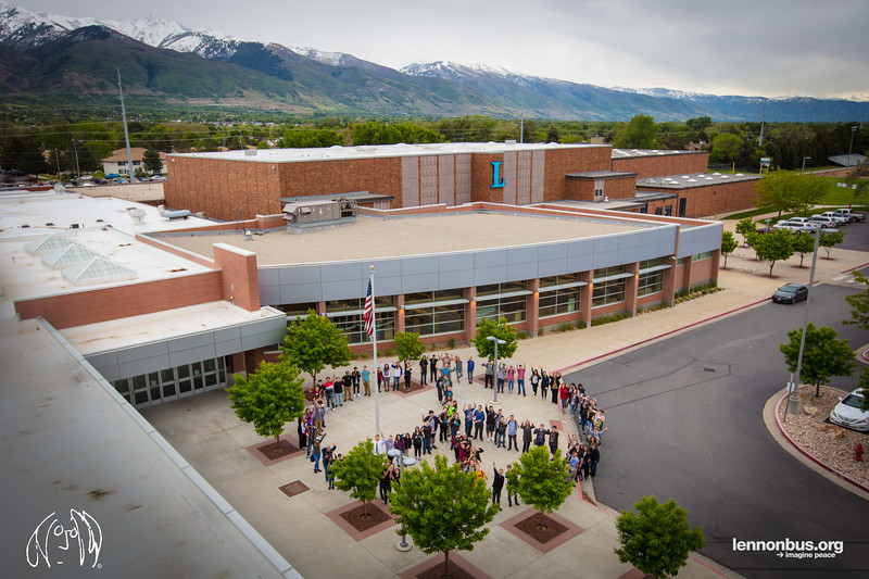 2017_05_19, Layton, Layton High School, UT, Peace Sign