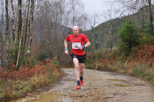 Winter Trail Marathon Wales - Runners at 5.8 Miles before 11:30