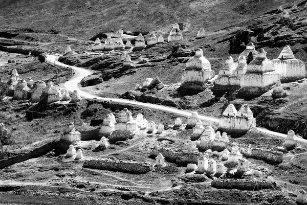 Bright Stupas, Curved Road
