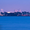 Downtown Oakland Twilight Skyline and SF Bay