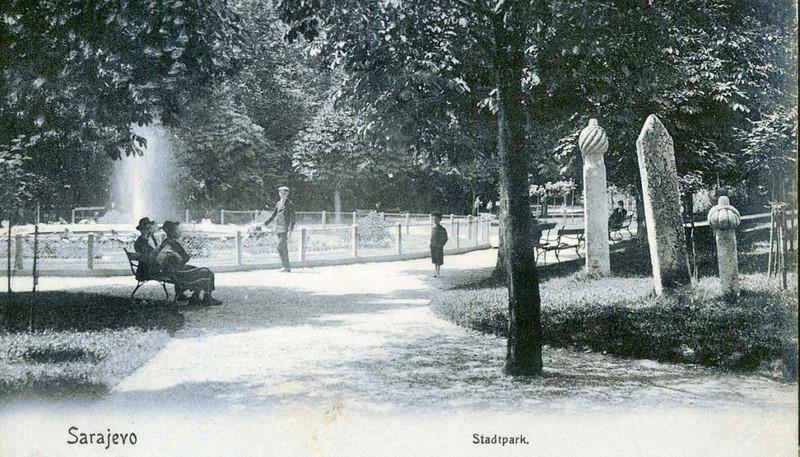 Veliki ili gradski park, 1910. godine