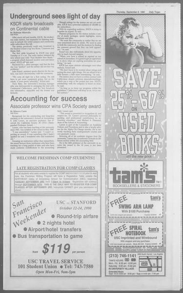 Daily Trojan, Vol. 113, No. 3, September 06, 1990