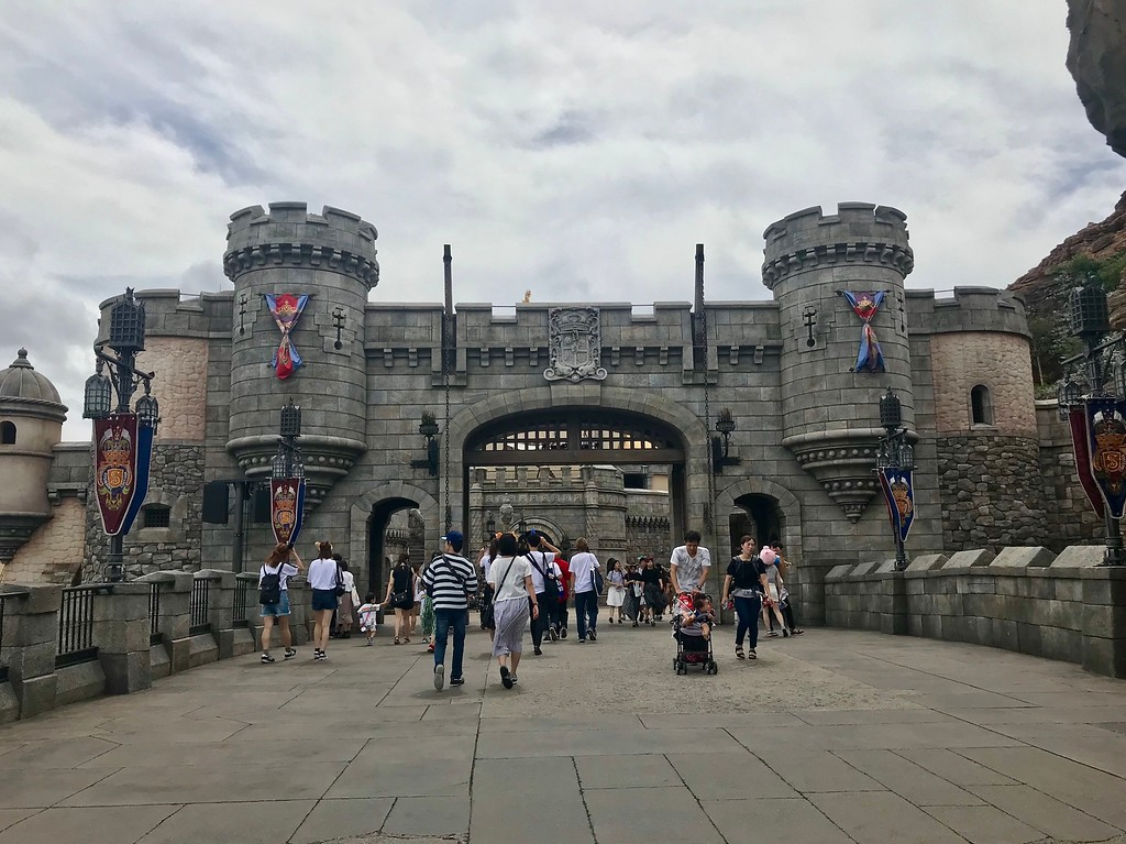 The castle part of the Mysterious Island.