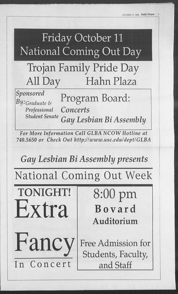 Daily Trojan, Vol. 129, No. 30, October 10, 1996