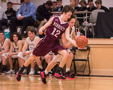 2019 JV  Boys Basketball:  Hall-Dale vs Monmouth