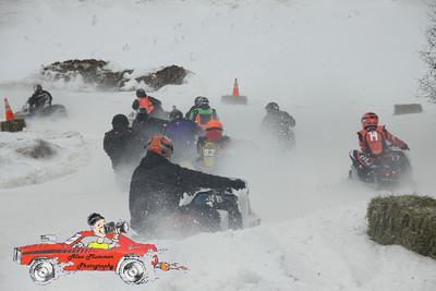 2/18/2012 Vintage Snow Mobile race