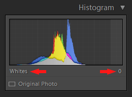 Lightroom Histogram - Whites