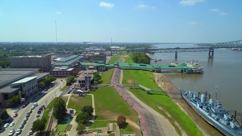 Aerial video Hollywood Casino Baton Rouge Louisiana