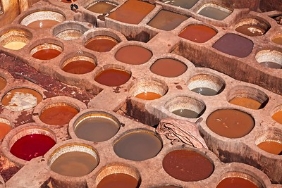 Leather Tannery of Fez, Morocco