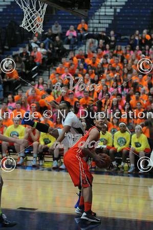 Oswego High School Girls Basketball at Oswego East High School in Oswego, Ill 2-7-14