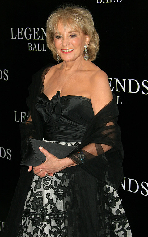 ". FILE - This May 14, 2005 file photo shows TV personality Barbara Walters at the Legends Ball, an award ceremony hosted by Oprah Winfrey  in Santa Barbara, Calif.  On Friday, May 16, 2014, capping a spectacular half-century run she began as the so-called ""Today\"" Girl, Walters will exit ABC\'s \""The View.\"" Behind the scenes she will remain as an executive producer of the New York-based talk show she created 17 years ago, and make ABC News appearances as events warrant and stories catch her interest. (AP Photo/Michael A. Mariant, File)"