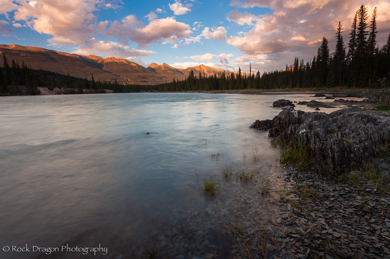 Athabasca river in Jasper National park.