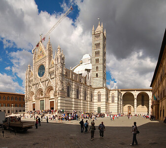 """Der berühmte """"Duomo Santa Maria Assunta"""" - Wahrzeichen Siena's / The famous  """"Duomo Santa Maria Assunta""""  - a landmark of Siena"""