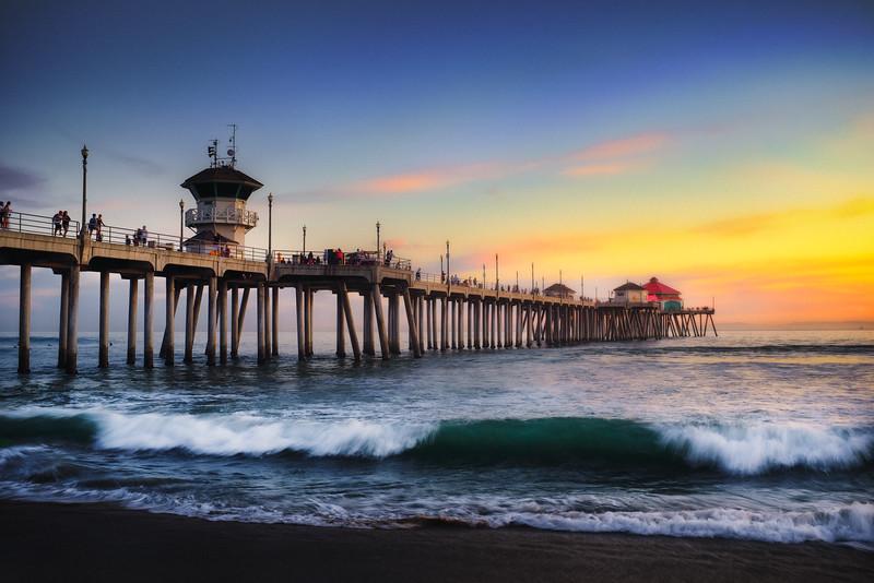 Huntington Pier Sunset