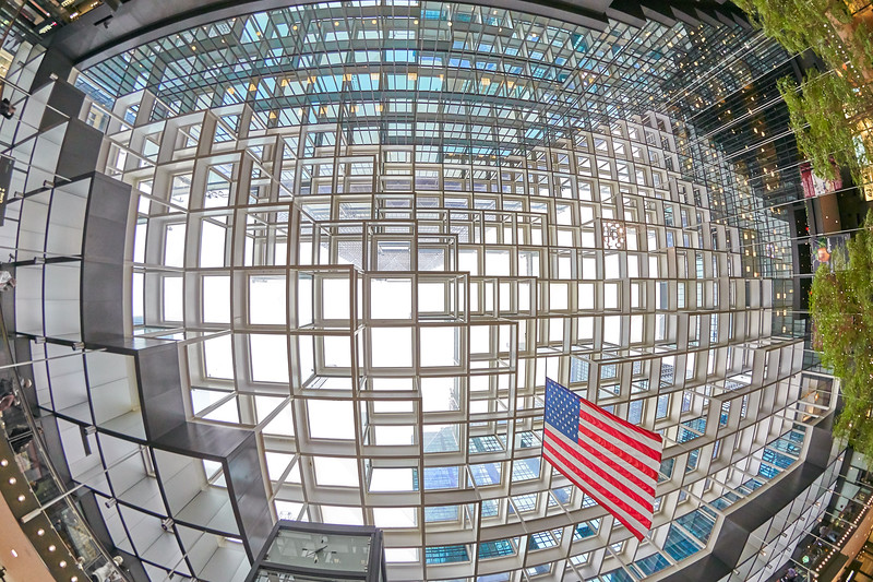 Crystal Court ceiling in Minneapolis IDS Center