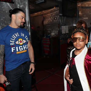 Roman Reigns - Digitals Connor's Cure Kid Superstars are honored on Raw