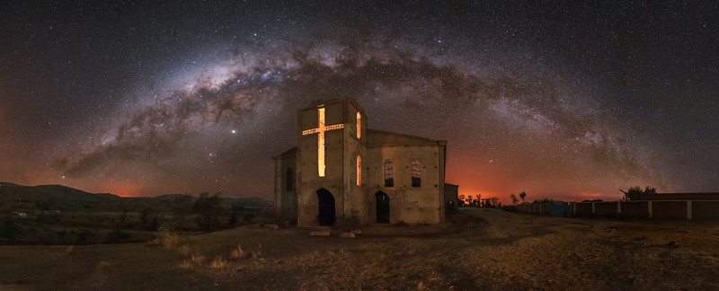 Abandoned Cathedral Panorama