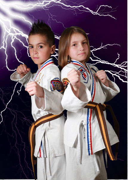 Caitlin and Connor Karate