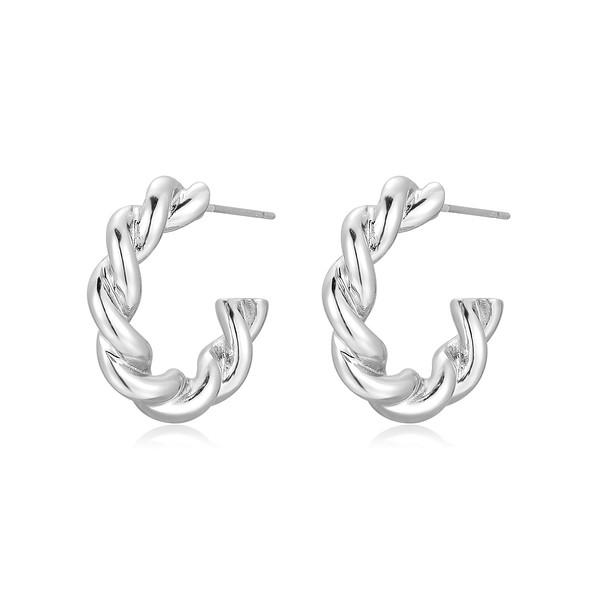 Twist earring, Silver